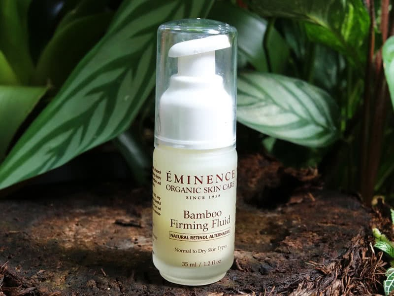 Eminence Bamboo Firming Fluid Review Organic Skincare Beauty Wise Up