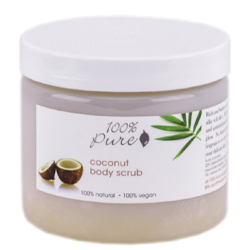 100 Percent Pure Natural Coconut Body Scrub Beauty Wise Up