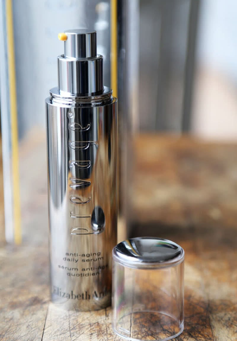 Elizabeth Arden Anti-Aging Daily Serum Review Skin Care Beauty Wise Up