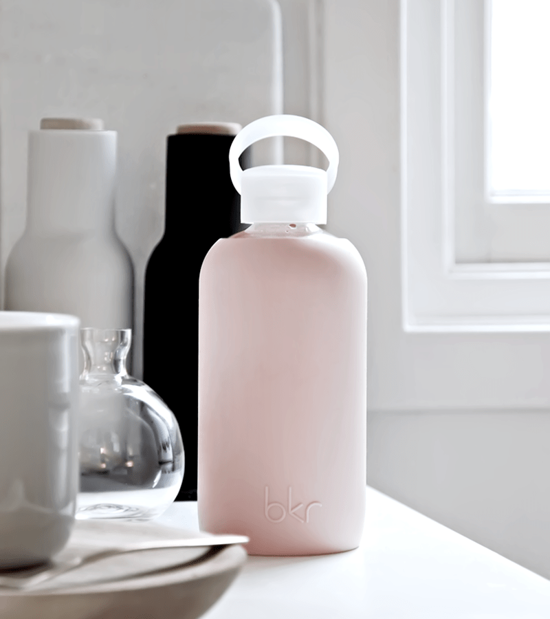 bkr glass water bottle neutrals natural Beauty Wise Up